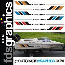 Paar Fletcher Schnellboot Rumpf Aufkleber - Farben verfügbar