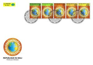 MALI 2020 STRIP PORTRAIT TYPE - STRUGGLE AGAINST PANDEMIC JOINT ISSUE FDC
