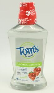 Tom's of Maine Silly Strawberry Children's Fluoride Rinse 16 oz Exp 01/23