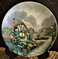 "New ListingThomas Kinkade ""Chandler'S Cottage"" Signed & Numbered Collector Plate – Vintage"