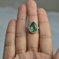 Handmade 925 Solid Sterling Silver Jewelry Mystic Topaz Solitaire Ring Size 6.5