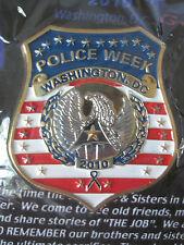 POLICE WEEK 2010 WASHINGTON DC BADGE PIN - MADE BY GUNZ - NEW