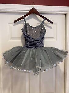 Curtain Call Ballet Dance Costume Silver Tutu - CHILD MEDIUM