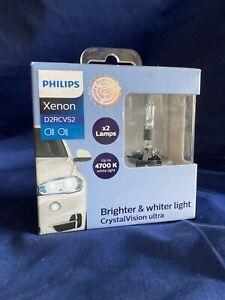 HID Philips Xenon CrystalVision Ultra D2R, Headlight Bulb Set; 2 pc. D2RCVS2