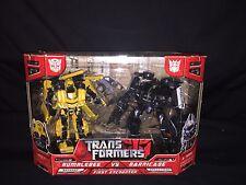 Transformers Moive 2007 First Encounter BUMBLEBEE vs BARRICADE Deluxe Class MIB