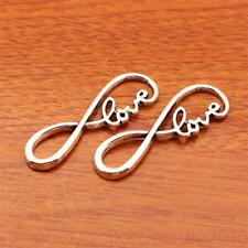 10Piece 39*12mm Infinity Love Charms Connector Tibetan Silver Fit Bracelet 7161H