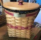 Longaberger Basket ~1998 Christmas Ed GLAD TIDINGS Combo ~ EUC