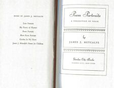 JAMES METCALFE Poem Portraits Collection of Verse HB 1948