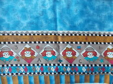 Estate Fabric KP Kids Pearson SSI Raggedy Doll Ann Heart ABC Country Folk Quilt