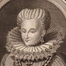 Portrait XVIIIe Gabrielle d'Estrées Roi de France Henri IV