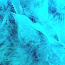 Boa economico in vera piuma TURCHESE azzurro 180 cm