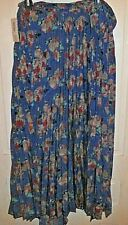 LuLaRoe Deanne Wrap Skirt size XS Extra Small Blue Background Floral BNWT