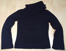 Nouveau Edition Knit Wear Long Sleeve Jumper Top Ladies Black Size M