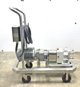 FRISTAM FL2 LOBE MODEL-75S POSITIVE DISPLACEMENT PUMP MOTOR AND GEAR BOX