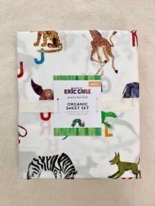 Pottery barn Kids World of Eric Carle™ Organic Sheet Set Twin caterpillar tiger