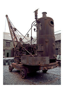 Steam Crane Full View Wales Photographic Epson Print only (Unframed)