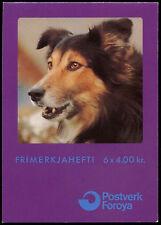 Isole Fær Øer 1994 SG #sb 8 cani pastore MNH STAMP LIBRETTO #C 34035