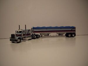 DCP FIRST GEAR 1/64 HARRISON TRUCKING PETE 379 WITH SLEEPER AND GRAIN TRAILER