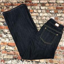 Michael Kors Women's Size 2 Dark Wash Low Rise Wide Leg Stretch Jeans #4B27