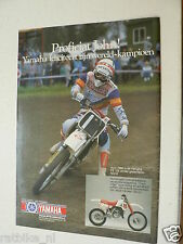 A236-JOHN VAN DEN BERK YAMAHA 125 CC MX CROSS 1987 ADVERTISEMENT ADD MOTORCYCLE
