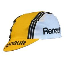 NEW Bella Capo Cycling/Bicycle Cap - White/Yellow Renault/Gitane - Made in Italy