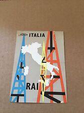 "Vintage 1968. ""Radiotelevisione Italiano"" Italy SW DX  SWL 1968"