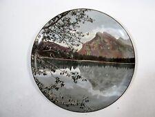 Old Banff National Park Colored Photo Souvenir Plate Royal Doulton Vermillion