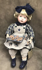 """Boyds Bear Yesterday'S Child """"Jean Marie� Porcelain Doll W Cookies"""