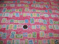 Baby Bunny Words Cotton Fabric Debbie Mumm Fabric Pink