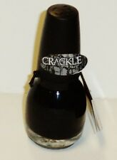 1 Sinful Colors CRACKLE Nail Enamel Over Polish Crackle BLACK CRACKLE #1019