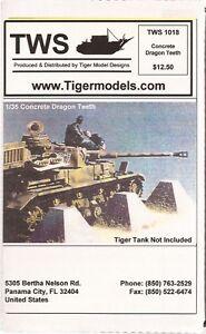 Tank Workshop TWS Concrete Dragon Teeth Fortification (6 pieces) TWS1018