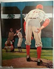 """Baseball Illustration by Walter Skor for story """"What A Boy Wants"""" - (1959)"""