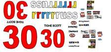 #30 Tighe Scott rrrrrruss 1979 1/64th HO Scale Slot Car Waterslide Decals