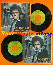 LP 45 7'' LEO SAYER When i need you I think we 1977 italy CHRYSALIS no*cd mc dvd