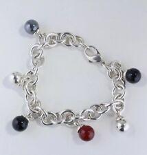 TIFFANY & CO Fascinations Bracelet with Hematite, Onyx & Carnelian Gemstones