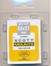 Prinz Scott Stamp Mounts Size 33/27 CLEAR Background  Pack of 40