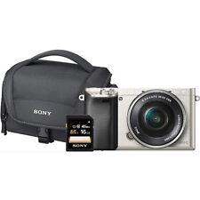SONY Alpha 6000 Systemkamera Silber + Zubehör