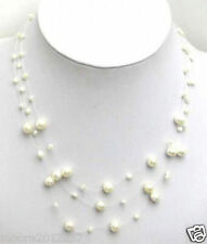 charming Starriness White Freshwater Pearl Necklace