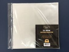 "100 Clear Poly Plastic LP Outer Sleeves 2 Mil 12"" Vinyl 33rpm Record Album Cover"