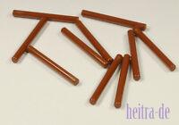 LEGO - 10 x Laserschwert - Stab 1x4 braun / Reddish Brown Bar 4L / 30374 NEUWARE