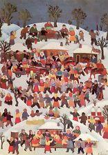 Dusan Jevtovic•Peasant Feast•Serbian•Naiive Art•4x6 POSTCARD France