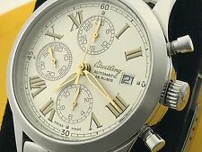 VERY NICE BREITLING GRAND PREMIER AUTOMATIC MEN'S STAINLESS STEEL WRIST WATCH