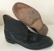 GEORGE BLACK LEATHER ANKLE DRESS BOOTS - Size: 9 Medium , British Army Issue