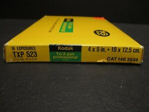 Kodak Tri-X Pan Film 4x5 film pack 16 sheets expired refrigerated new old stock