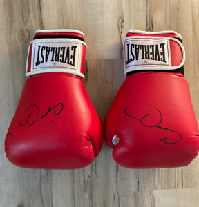 Oscar De La Hoya Signed Autograph Red Everlast Boxing Gloves Golden Boy 🥊🥊🥊