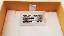 Orecchini Oro Bianco 750/18KT con Zirconi Bianchi - 1.70 Grammi