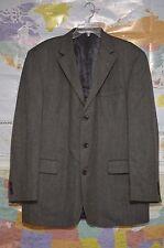 OSCAR DE LA RENTA Men's Herringbone Wool Cashmere Gray Jacket Blazer 44L