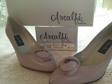 LADYS DUSTY ROSE LEATHER PUMP DRESS SHOES NIB AMALFI  MODA TOSCA CALF SIZE 8.5AA