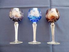 3er Set Römer aus Kristallglas, farbig