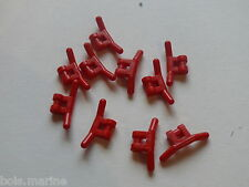 Lego 10 guidons rouges  set 6584 6334 6517 6518  / 10 red handlebars